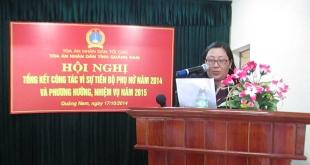 Chánh án Tòa án nhân dân huyện Thăng Bình – Quách Thị Tuyết Mai