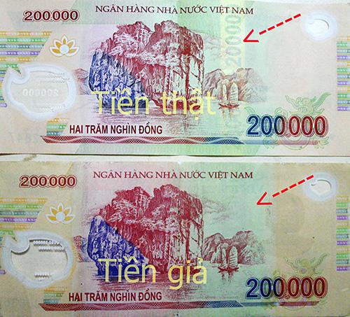 Tội phạm làm tiền giả ngày càng giống tiền thật hơn về hình thức. Tuy nhiên, vẫn có thể phân biệt qua một số đặc điểm nhận dạng.